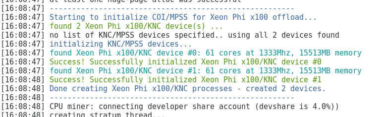 lukMiner 0.8.6 adds Xeon Phi Offloading Support …